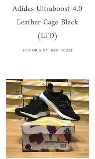 Adidas Ultraboost 3.0 LTD Leather Cage Black 100% ORIGINAL BASF ADIDAS BOOST