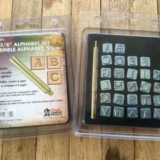 Tandy Alphabet Metal Stamp