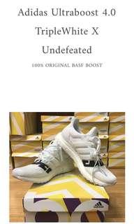 Adidas Ultraboost 4.0 Triplewhite X Undefeated 100% ORIGINAL BASF ADIDAS BOOST