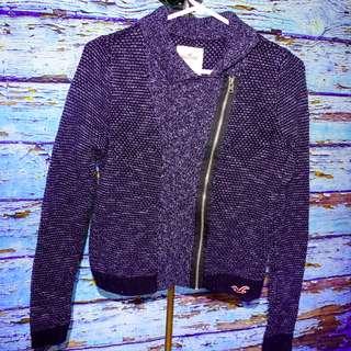 Hollister Diagonal Zipper Sweater