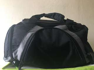 Black & Gray Gym/Traveling Bag