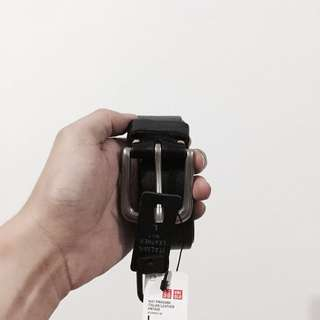 Uniqlo Leather Belt - Black Color