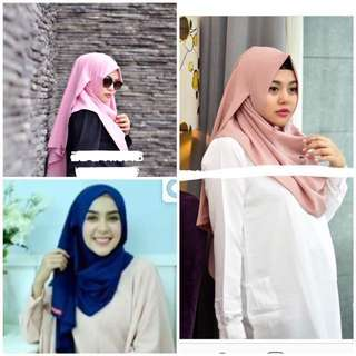 Sienna hijab instan bAby pink/salmon, Navy , baby peach