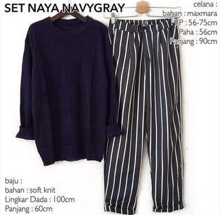Set naya navy gray