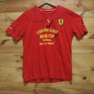 Puma x Ferrari fernando alonso racing t shirt original BNWT