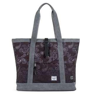 🚚 HERSCHEL X CLOT TOTE BAG 聯名 MARKET XL 變形蟲 托特包 肩背包 手提包 黑灰 降
