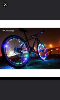 Brand new wheel light for bicycle/bike ( make your wheels glow with a circle of spinning light)