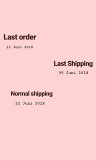 Info Shipping and Order