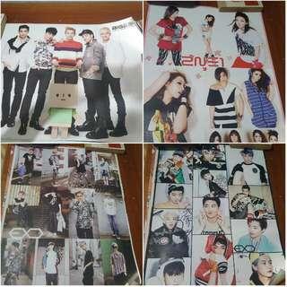 EXO,BIGBANG & 2NE1 Posters