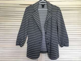 Soho Gray Stripes Coat