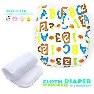Cloth Diaper with FREE 1pc Microfiber Insert - F270