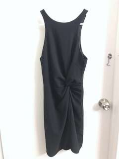 PERFECT STRANGERS Navy Twist Dress