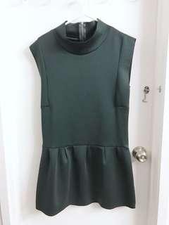 ZARA Evergreen Peplum Dress