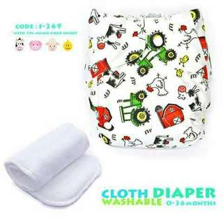 Cloth Diaper with FREE 1pc Microfiber Insert - F269