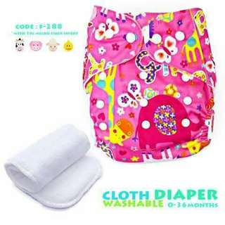 Cloth Diaper with FREE 1pc Microfiber Insert - F288
