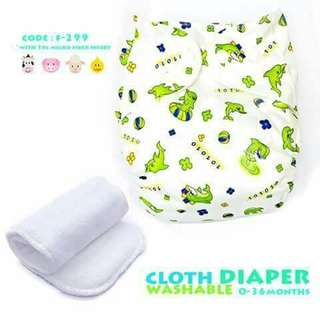 Cloth Diaper with FREE 1pc Microfiber Insert - F299