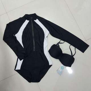 REPRICED Rashguard Swimsuit / Swimwear