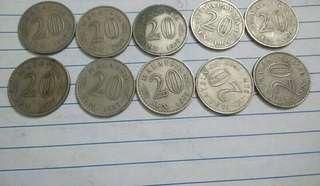 Lot Sales. 20sen 1969 (10pcs)