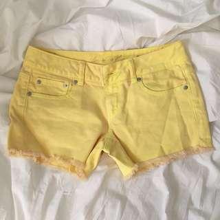 Neon shorts size 4