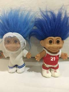 Vintage Sporty Trolls: Fencing and Basketball / Trolls of the 90's