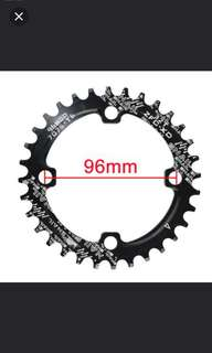 Snail CNC 7075 aluminum chain ring 32/34T(96 BCD)