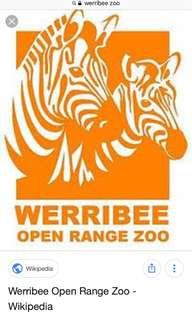 Werribe zoo tickets for sale