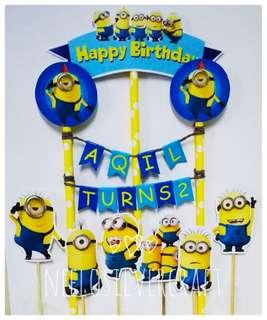 Minion Theme Cake Topper