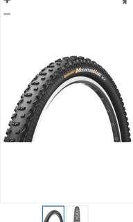 "Continental tyre 2.4"" 29"" Mountain bike"