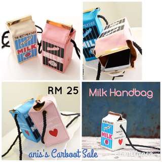 Sale!! (READY STOCK) Milk Box Sling Bag Susu Cute Beg Budak Kids