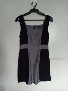 Forever 21 Black and Gray Dress