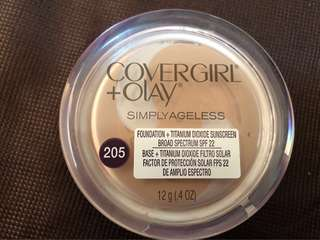 Covergirl + Olay Simply Ageless Foundation in 205 Ivory SPF 22