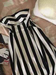SHEIKE B&W BUSTIER STRAPLESS DRESS