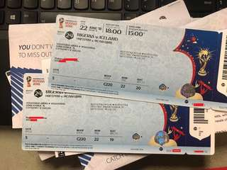 World Cup Category1 x 2tickets