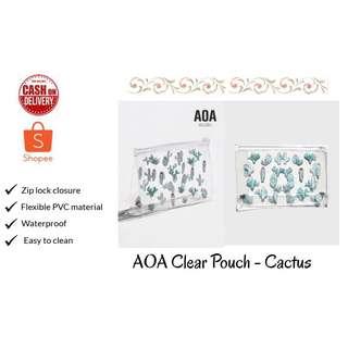 AOA Clear Pouch - Cactus