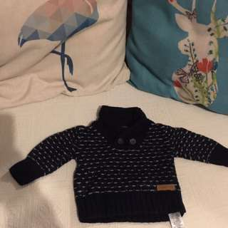 Baby Boy Winter Sweater Cardigan Jumper 0-3