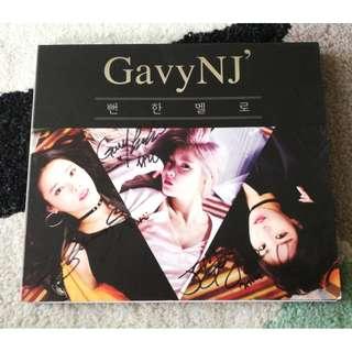 CD Autograph Kpop Gavy NJ - Single Album Promo Signed All Members