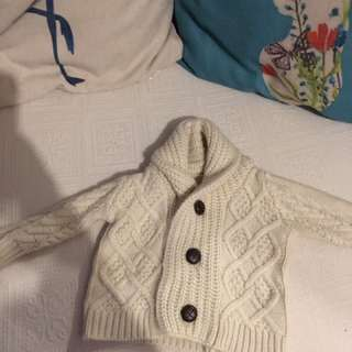 Baby Boy Winter Cardigan Jumper 3-6