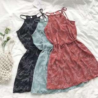 [PO] Bohemian Floral Halter Dress