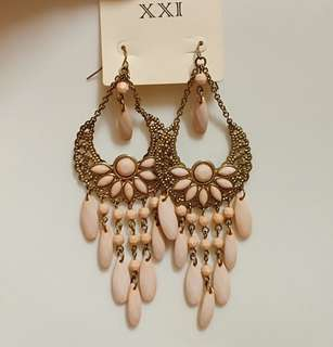 Forever 21 Peach/Gold Earrings