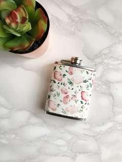 Floral hip flask