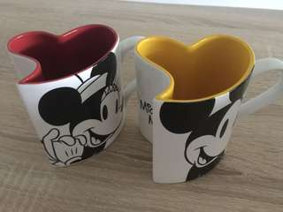Disney Mickey Minnie Cup Set (Franc Franc)