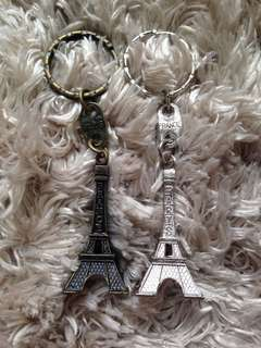 Paris Bought Eiffel Tower Keychains