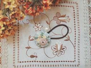 刺繍(手芸) 髮圈