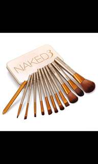 Naked3 12pcs make up cosmetic brush kits tool set
