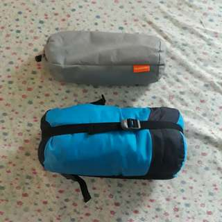 Sleeping Bag and airplane blanket