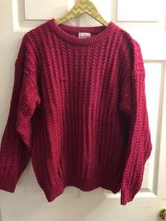 Vintage Fuschia Sweater