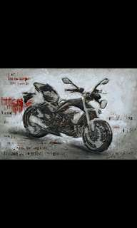 🚚 oil painting on canvass by hand decorative art - Motobike Free Spirit 9218K-2 (120cm x 80cm)