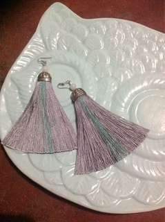 Two-colored Long Boho Tassle Earrings