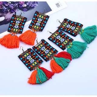 Long Boho Tassle Earrings