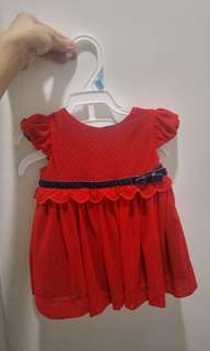 Baby Girl Red Dress 0-3m